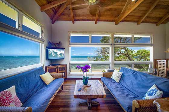 Select Aloha Sunrise at Tiki Moon Villas for this oceanfront experience.