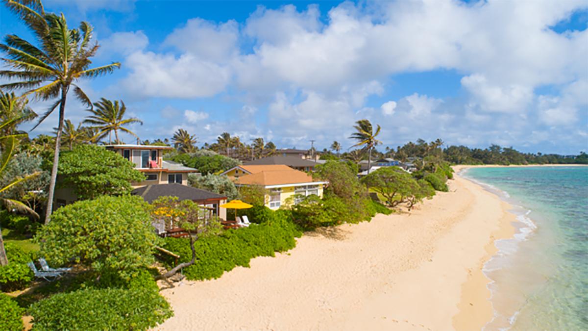 Half mile of beach at Tiki Moon Villas